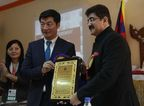 Dr. Lobsang Sangay and Sandeep Marwah