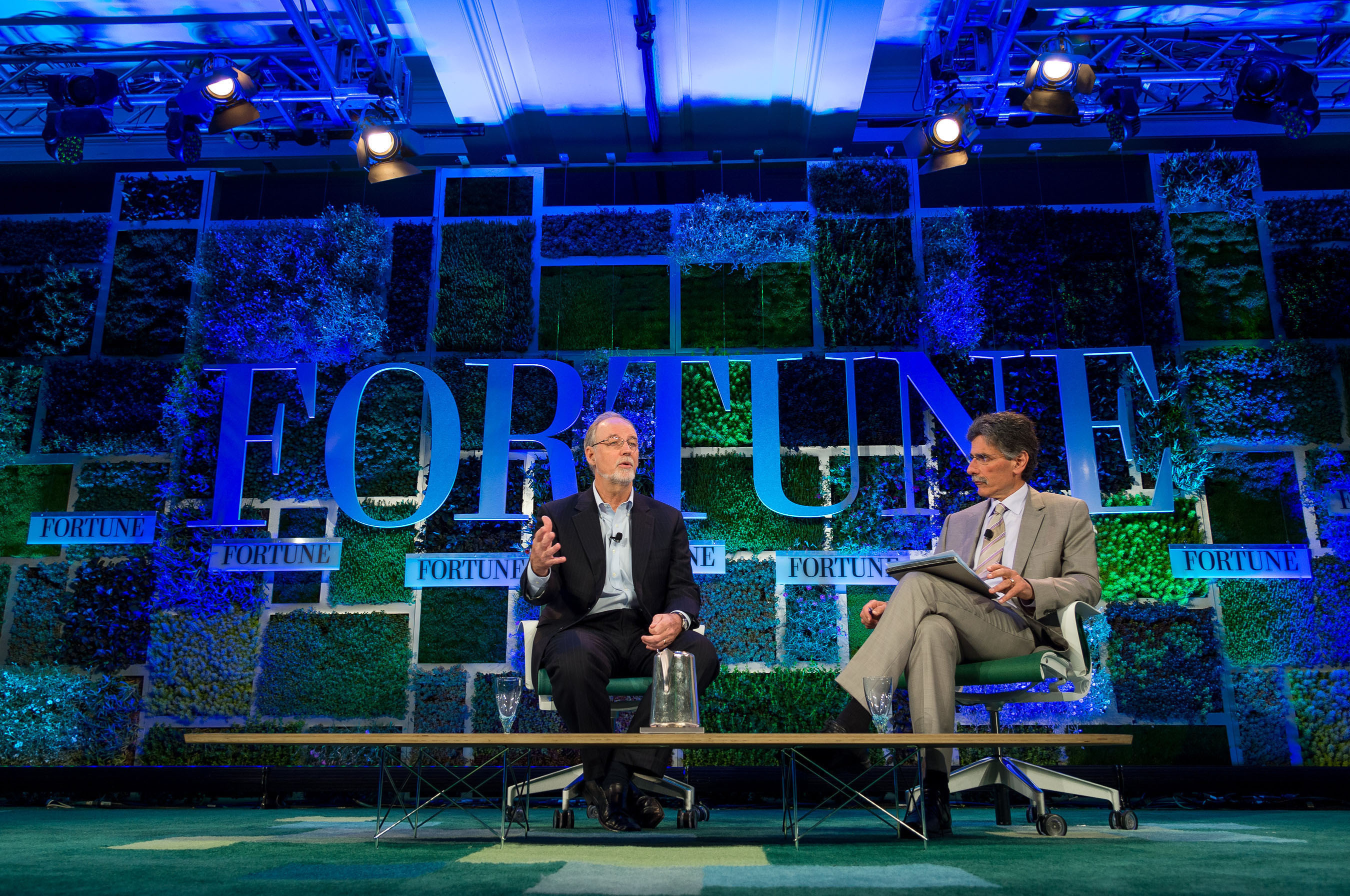 General Mills Chairman and CEO Ken Powell took the stage at Fortune Brainstorm Green in Laguna Nigel, Calif., Tuesday to talk about the role General Mills and other responsible food companies play in sustainably managing and growing the global food supply. Photograph by Stuart Isett/Fortune Brainstorm Green.  (PRNewsFoto/General Mills, Stuart Isett)