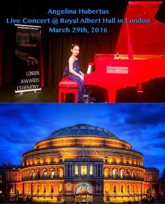 Angelina Hubertus's live performance at Royal Albert Hall in London