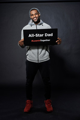 LeBron James for #LeanInTogether. Photo Credit NBAE/Getty Images.