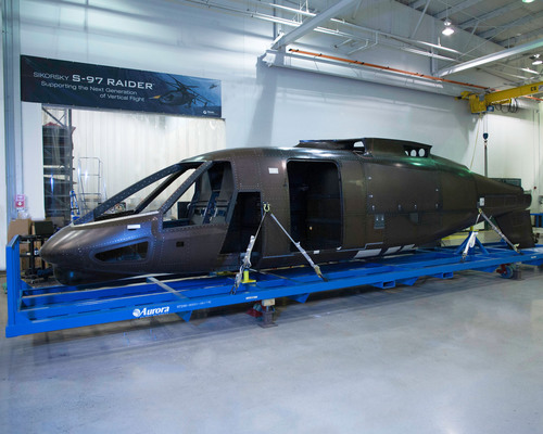 Sikorsky S-97 RAIDER™ Helicopter Enters Final Assembly with Delivery of the Fuselage from Aurora