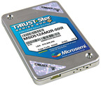 Microsemi's 256GB, 200MB/s TRRUST-Stor Series 200 Secure SSD.  (PRNewsFoto/Microsemi Corporation)
