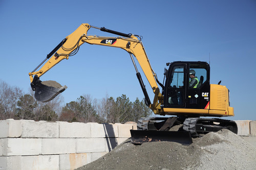 The 308E mini hydraulic excavator will be the first machine built in the Athens facility.  (PRNewsFoto/Caterpillar Inc.)