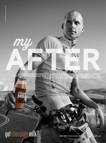 Ironman Champion Chris Lieto Shows How His After-Workout Routine Helps Fuel His Success; Triathlete Becomes Latest Athlete to Star in New REFUEL I got chocolate milk?(TM) Campaign.  (PRNewsFoto/MilkPEP)