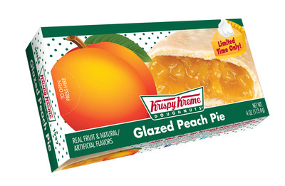 Krispy Kreme(R) has hand-picked the best of summer fruit flavors for its end of summer seasonal offerings. Glazed Peach Pie and new Blueberry Krispy Juniors(R) are available for a limited time at participating grocery, mass merchants and convenience stores. Not available at Krispy Kreme doughnut shops. KrispyKreme.com/grocery. (PRNewsFoto/Krispy Kreme Doughnut Corporation) (PRNewsFoto/KRISPY KREME DOUGHNUT CORP.)