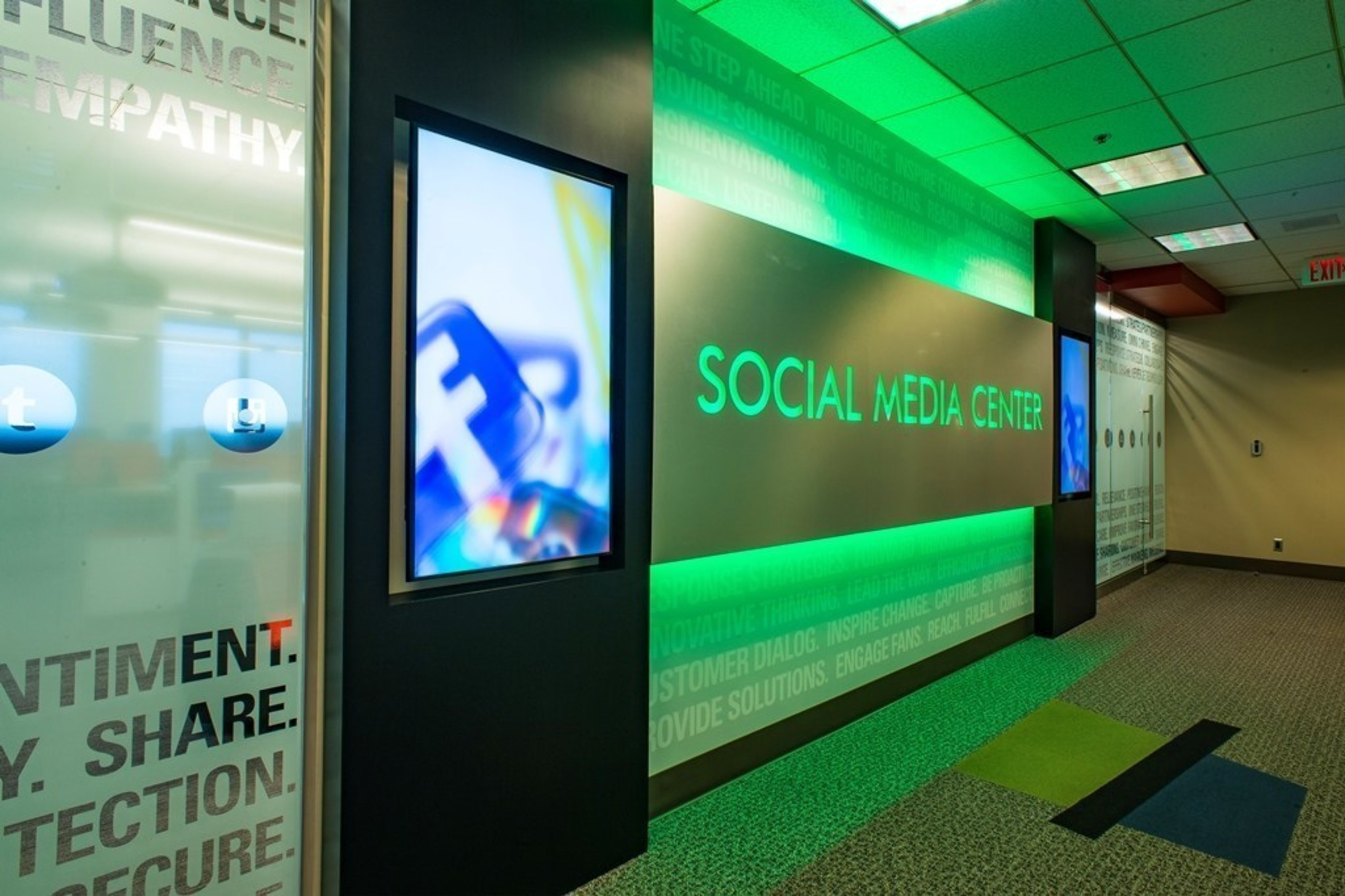 The exterior of Georgia Power's new Social Media Center in Atlanta. The new center is located near the Georgia Power Storm Center, facilitating fast and accurate social media communication with customers during severe weather.