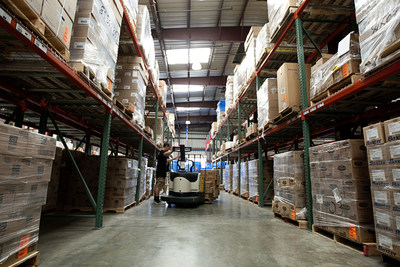 Humanitarian medical inventory in Direct Relief warehouse. (http://www.directrelief.org)