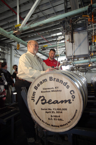 Jim Beam(R) Bourbon made history April 23, 2014, by filling its 13 millionth barrel of bourbon since ...