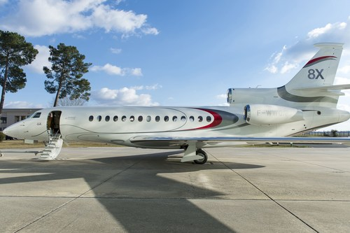 First Ultra Long Range Falcon 8X Set for Delivery to Indian Operator by end of 2016 (PRNewsFoto/Dassault ...