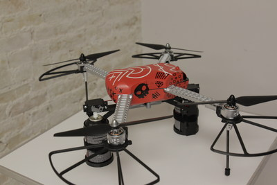 Chaotic Moon's Drone Tyrone outfitted with spray paint cans