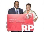 AARP CEO Jo Ann Jenkins (right) and AARP community ambassador and network broadcaster for CBS Sports and News, James Brown.