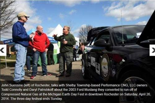 Exhibiting at an Eco Event (PRNewsFoto/Performance CNG)