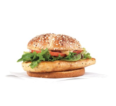 Wendy's new Grilled Chicken Sandwich--a better-for-you option that delivers on taste. Built on a seasoned, all-white meat chicken breast, it's topped with spring mix, fresh-cut tomatoes, a smoky honey mustard sauce and placed on a new multigrain bun. Part of the everyday menu, but currently available for a limited time as a $5.00 combo meal, including a small fry and small drink.