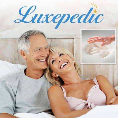 Happy night's = Happy days. Luxepedic memory foam mattresses are designed to relieve painful pressure points that cause tossing and turning at night. We guarantee your comfort.  (PRNewsFoto/Luxepedic)