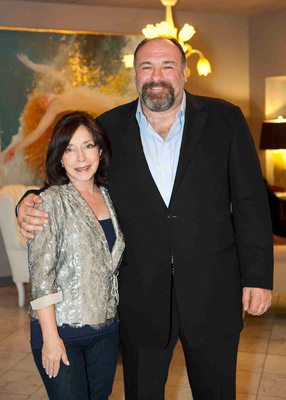 SCAD President and Co-founder Paula Wallace with Actor James Gandolfini at the 2012 Savannah Film Festival opening weekend.