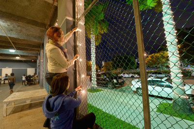 The Chapman Partnership in Miami, Florida was decorated on Tuesday, November 24, 2015 on behalf of Glade(R) to help spark feelings of joy this holiday season. (Gustavo Caballero/ Getty images for SC Johnson)