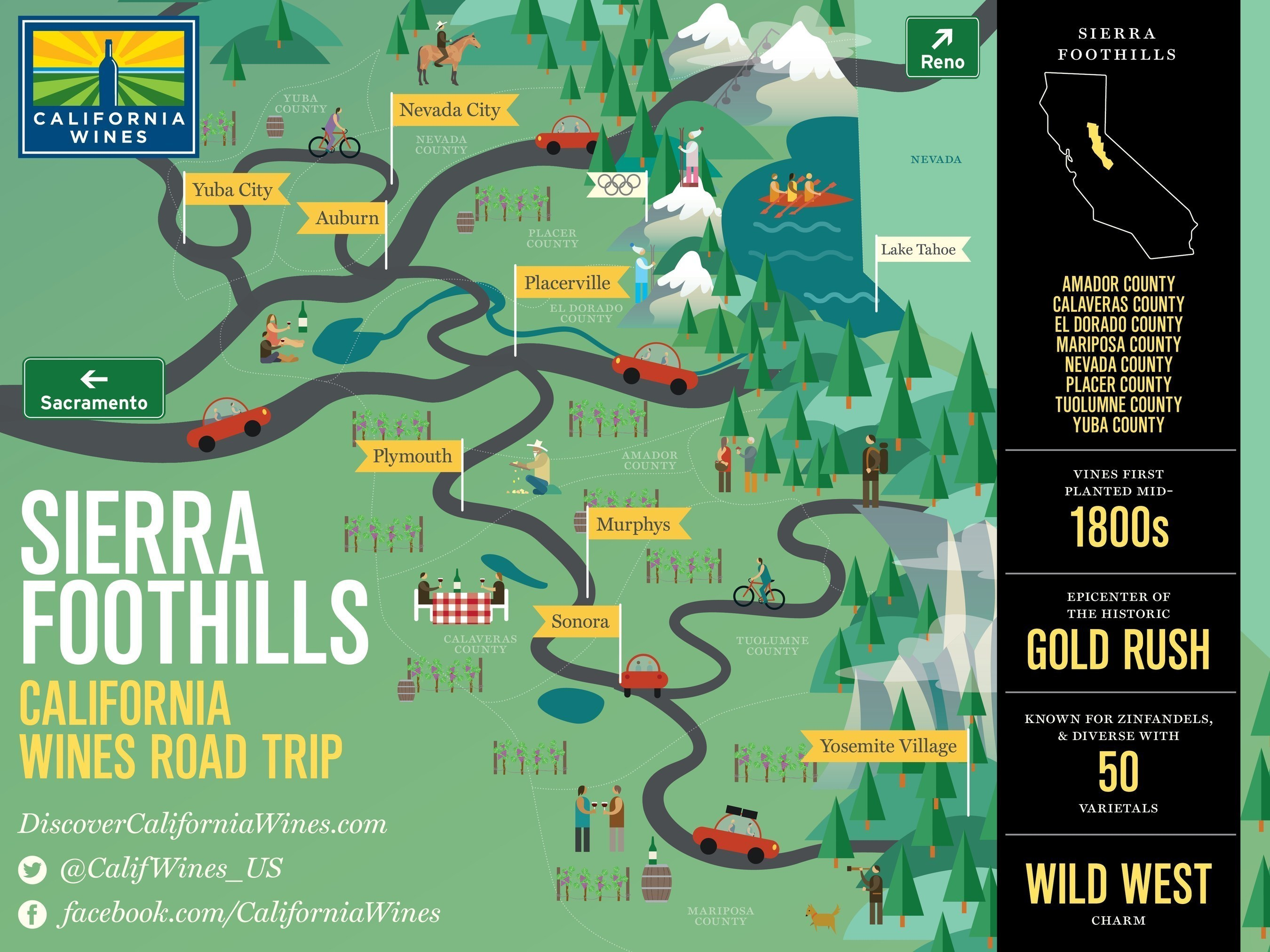 explore the sierra foothills on a california wines road trip
