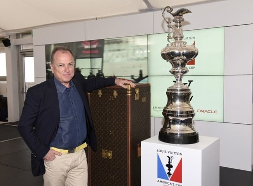 July 26 2015 Americas Cup World Series Portsmouth 2015 Mr Michael Burke CEO Louis Vuitton in Portsmouth.Photo ...