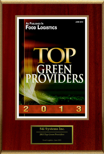 """S4i Systems Inc Selected For """"2013 Top Green Providers"""". (PRNewsFoto/S4i Systems Inc) (PRNewsFoto/S4I SYSTEMS INC)"""