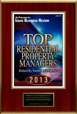 "Humphry Property Management, Inc Selected For ""Top Residential Property Managers"""
