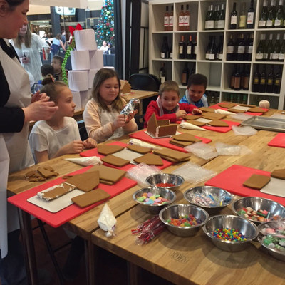 Wounded veterans and their families built and decorated gingerbread houses in Sterling, Virginia