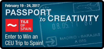 Tile of Spain launches 2017 Passport to Creativity contest. Show us your creativity and enter to win an architectural trip to Spain!