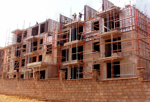 Epco in Kenya completed the structures of 116 medium-cost apartments - 15 blocks on 4 levels (G 3) - in a record 10 months using aluminum concrete formwork. (PRNewsFoto/Wall-Ties & Forms, Inc.) (PRNewsFoto/WALL-TIES & FORMS, INC.)