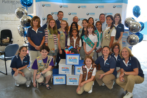 Girl Scouts from Nassau and Suffolk Counties, along with volunteers and staff from Astoria Federal Savings distributed school supplies to local school districts and organizations as part of Astoria Federal Savings' 13th annual Kids Tools for School collection drive. (PRNewsFoto/Astoria Federal Savings)