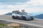 Higgins and Drew claimed a new Subaru Mt. Washington Hillclimb record and their fourth win of this season in the Rally America Championship. (PRNewsFoto/Subaru of America, Inc.)