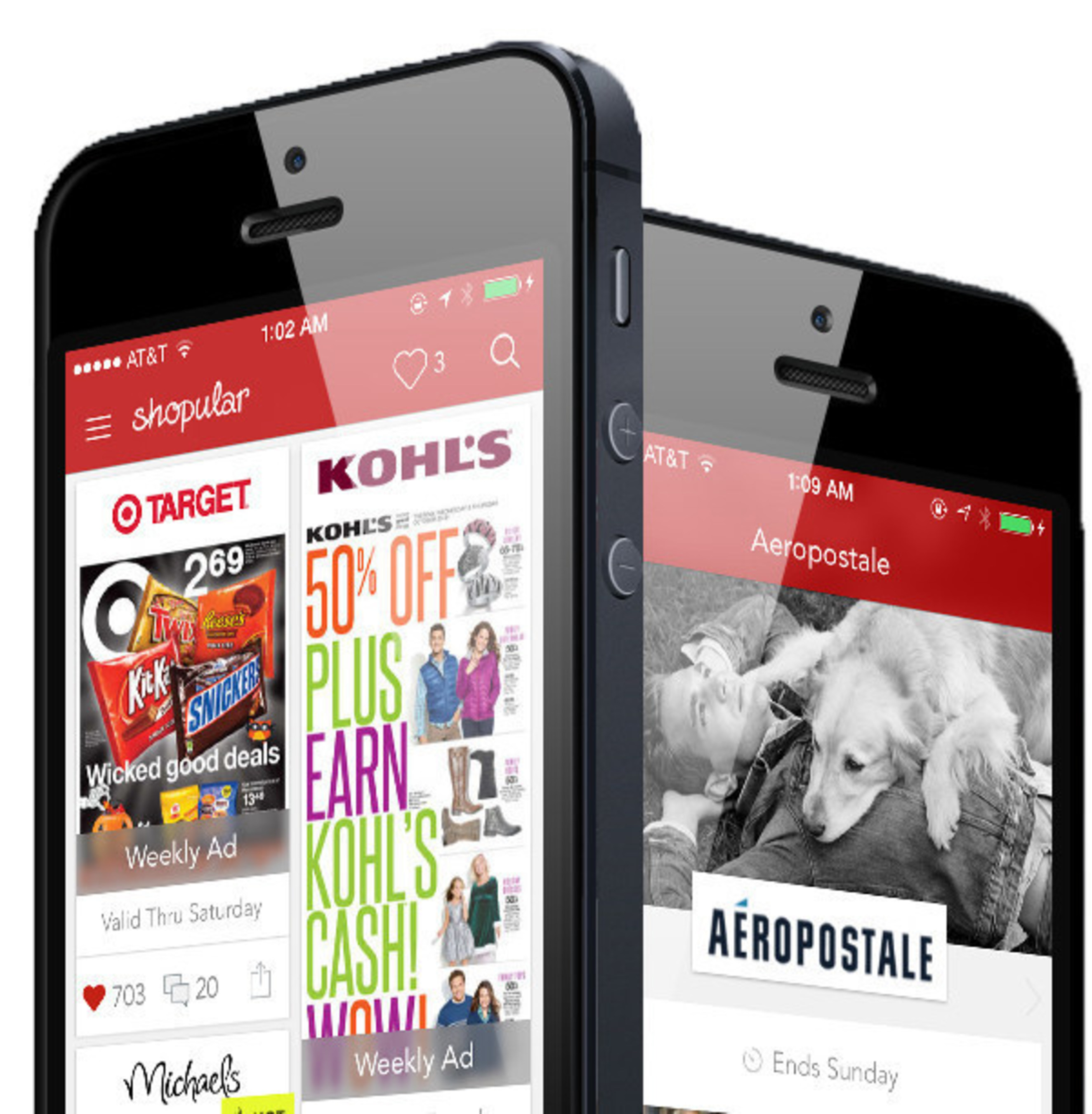 The Shopular app sends geo-targeted retail deal alerts right to the consumer's smartphone - for all of their favorite brand stores.