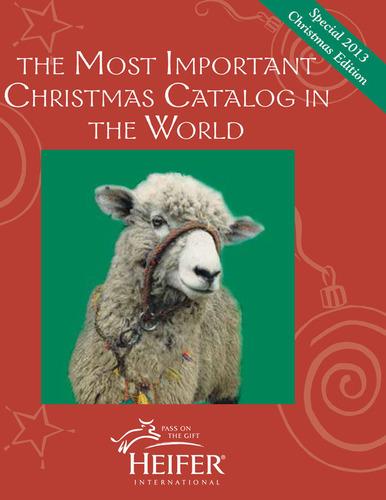 "Heifer International's ""Most Important Gift Catalog in the World"". (PRNewsFoto/Heifer International) (PRNewsFoto/HEIFER INTERNATIONAL)"