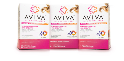 AVIVA(TM) Launches Scientifically Formulated Advanced Hair Growth System. (PRNewsFoto/AVIVA)