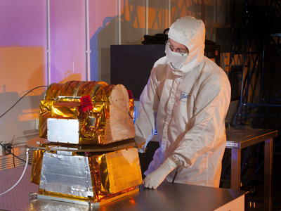 The Clouds and Earth's Radiant Energy Systems instrument for the National Oceanic and Atmospheric Administration's Joint Polar Satellite System, the Nation's next generation polar-orbiting satellite, has arrived at Ball Aerospace for satellite integration. The CERES instrument is key for continuity of long-standing weather and climate measurements currently provided by the Suomi National Polar-orbiting Partnership mission launched in 2011. (PRNewsFoto/Ball Aerospace & Technologies...)