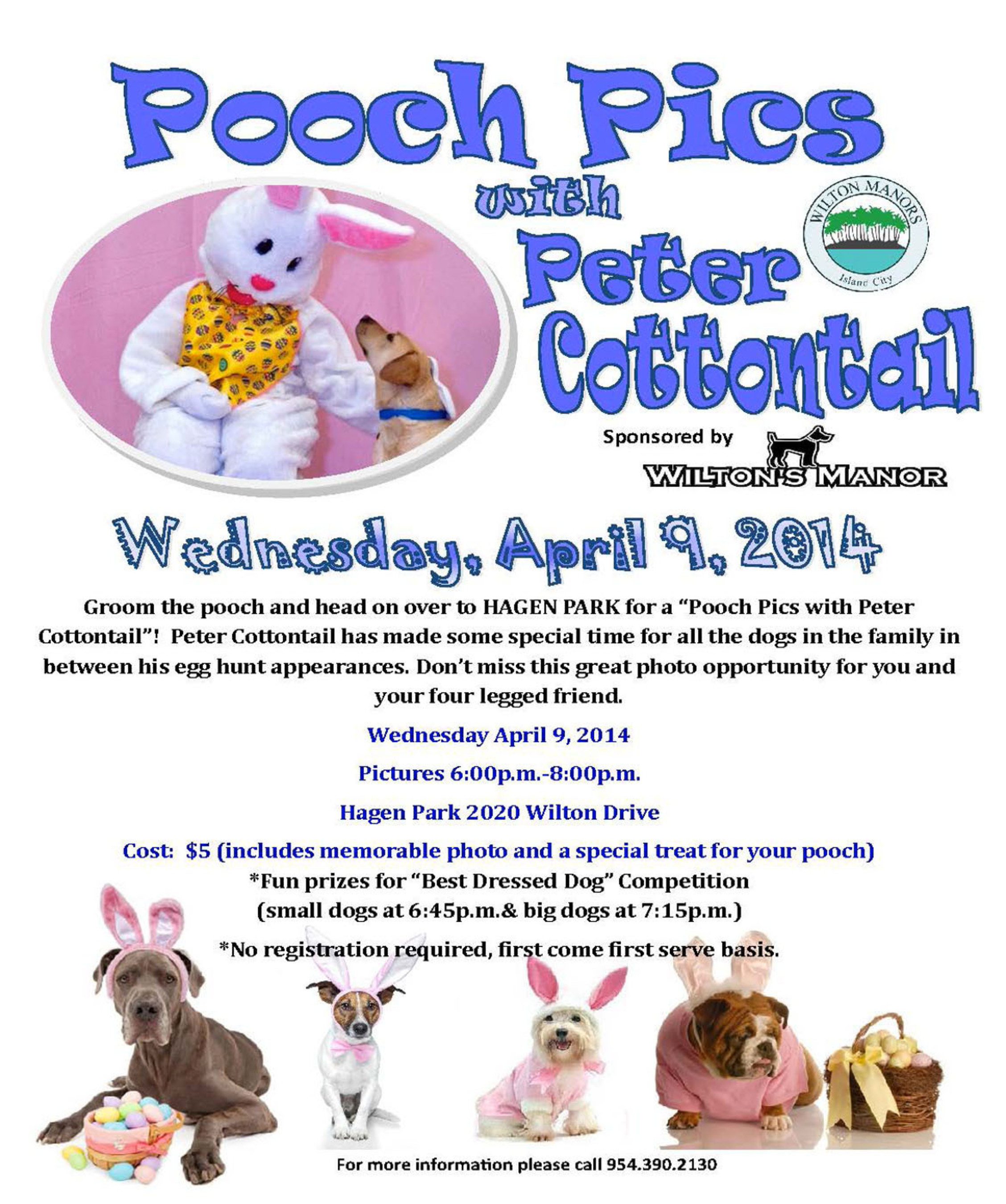 Pooch Pics with Peter Cottontail Event at Hagen Park in Wilton Manors on April 9th. (PRNewsFoto/City of Wilton Manors) (PRNewsFoto/CITY OF WILTON MANORS)