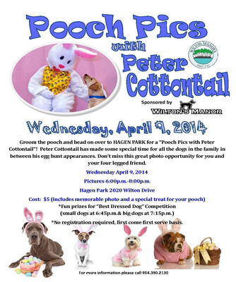 The City of Wilton Manors and Wilton's Manor Doggie Daycare Present Pooch Pics with Peter Cottontail