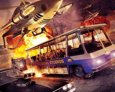 "New thrill ride ""Fast & Furious--Supercharged"" races into Universal Studios Hollywood, opening Thursday, June 25."