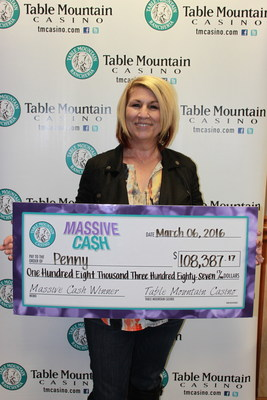 Congratulations to Penny, another local winner, at Central California's Table Mountain Casino!