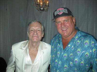 Playboy founder Hugh Hefner & Bunny Ranch owner Dennis Hof at The Playboy Mansion
