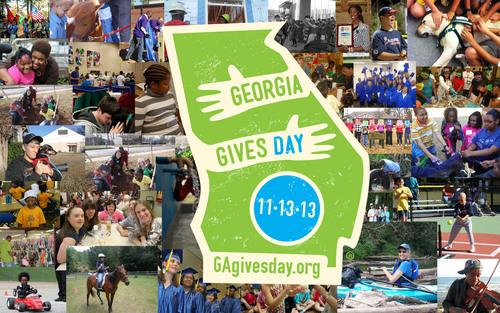 On Nov. 13, all Georgians are asked to visit GAgivesday.org and donate to any of the nearly 1,700 statewide nonprofits on the site. Organizers have set a goal of 10,000 donors on Georgia Gives Day 2013.  (PRNewsFoto/Georgia Center for Nonprofits)