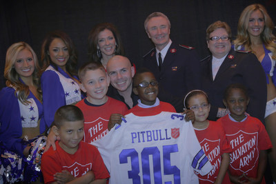 Pitbull to kickoff Red Kettle Campaign during Dallas Cowboys Thanksgiving Game (PRNewsFoto/The Salvation Army)