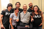 Bankers Healthcare Group President Bob Castro, family and others from BHG with motivational speaker Nick Vujicic in South Florida.