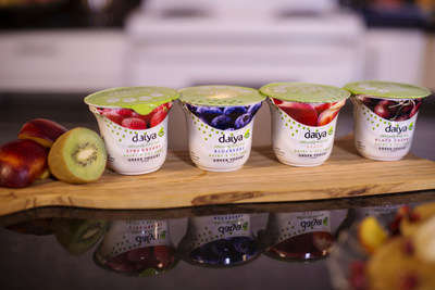 Daiya's new Greek Yogurt Alternative now available in Peach, Strawberry, Black Cherry, and Blueberry