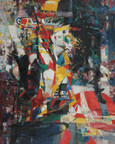 Yang Xinfei - oil painting incorporating the concrete, the abstract and the impressionist, a work by Shi Qi