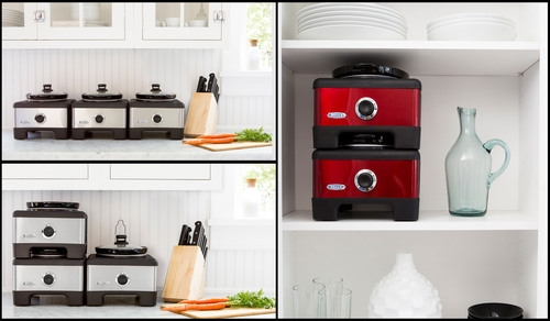 Bella LINX Serve & Store Linkable Slow Cooker System.  (PRNewsFoto/Sensio Inc.)