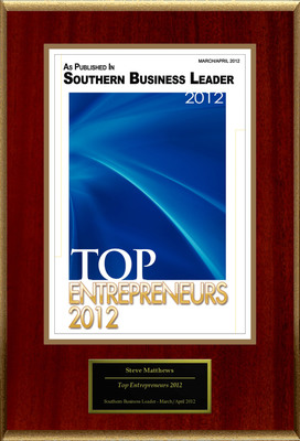 "Steve Matthews Selected For ""Top Entrepreneurs 2012"".  (PRNewsFoto/American Registry)"