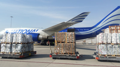 National Airlines flight bound for Haiti is loaded with critical relief equipment.