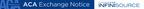 Infinisource and ACA Exchange Notice.  (PRNewsFoto/Infinisource)