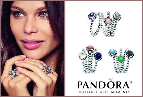 Pandora December Birthday Blooms Ring Turquoise