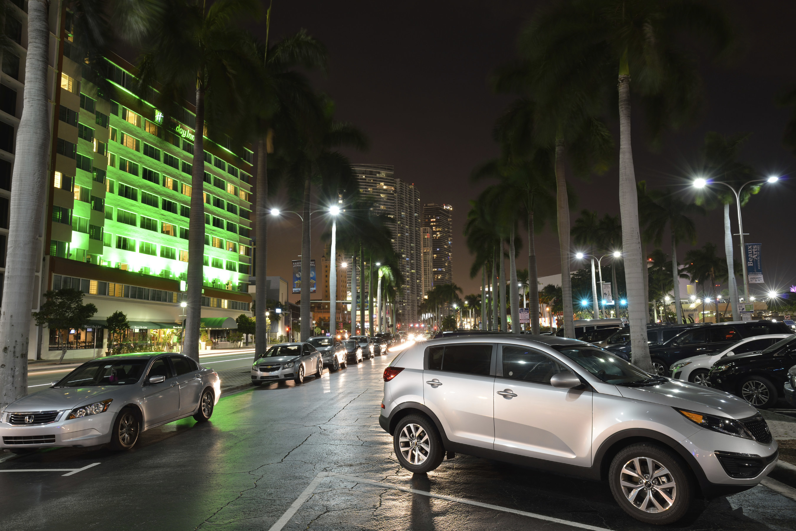 Downtown Parking Area (stock image)