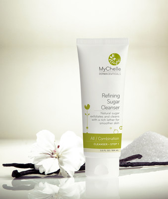 The new MyChelle Refining Sugar Cleanser gently exfoliates surface impurities as it transforms into a creamy, foaming lather that leaves skin smoother, softer and hydrated. Boosted with age-defying Peptides and bioactive plant extracts. MSRP $25/3.5 oz. Learn more at www.mychelle.com